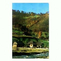 CP110-04 -Peisaj la Cormaia (Jud.Bistrita -Nasaud) circulata1985 - Carti Postale Romania dupa 1918