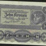Bnk bn austria 10 coroane 1922 xf