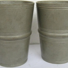 Metal/Fonta - 2 pahare din zinc marcat (2)