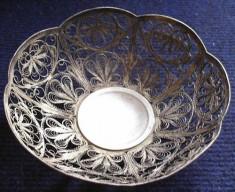 Bomboniera argintata, lucrata in filigran, Altele