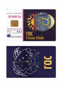 CARTELA ROMANIA ROMTELECOM ZODII - RAC - PENTRU COLECTIONARI ** foto