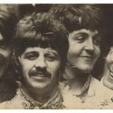 Poza The Beatles Originala Cu Autografe Autentificata