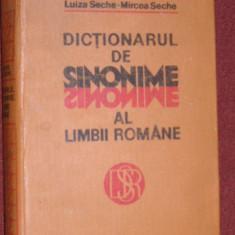 Dictionarul de sinonime al limbii romane - Luiza Seche, Mircea Seche - Dictionar sinonime