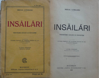 Mihail Lungianu , Insailari , insemnari , icoane si povestiri , 1924 foto