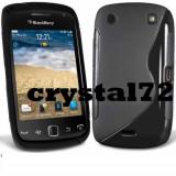 Livrare gratuita! Husa termorezistenta silicon-gel TPU neagra pentru BLACKBERRY 9380 + folie ecran + laveta, calitate, model S-line - Husa Telefon