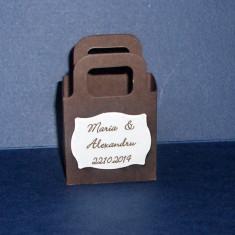 Kit 50 marturii nunta (cutie punga/ eticheta personalizata) - lichidare stoc/ pret mic