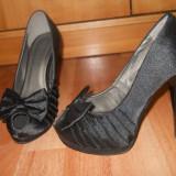 Pantofi dama, Marime: 38, Negru - Pantofi