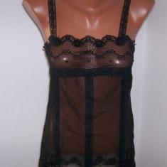 Lenjerie dama Victoria's Secret marime XS USA - Camasa de noapte, Culoare: Negru