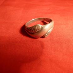 Inel vechi argint, marcaj 925, D.int. =1, 9 cm - Inel argint