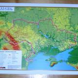 Harta Ucraina - in relief - 1:6 000 000