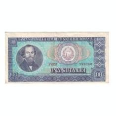 Bancnota de 100 lei din 1966