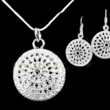 Set bijuterii argint - Set 925 Sterling Silver (marcat)m finut +saculet organza CADOU