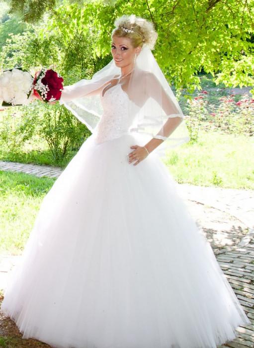 Rochie de mireasa tip printesa (Princess) foto mare