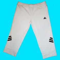 Pantaloni dama, Trei-sferturi, Alb, Bumbac - PANTALONI TREI SFERTURI ADIDAS, BUMBAC +LYCRA