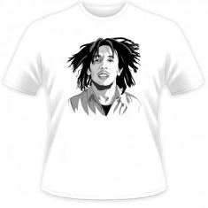 Tricou barbati, Maneca scurta, Bumbac - Tricou Bob Marley