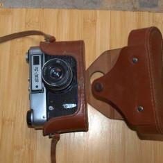 APARAT FOTO SOVIETIC PE FILM FED 5B CU OBIECTIV DE 2.8 50mm - Aparat Foto cu Film Praktica, RF (Rangefinder), Mediu