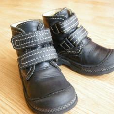 Ghete/bocanci din piele Base JP - mar.24 (int. 15.5 cm) - Bocanci copii, Culoare: Negru
