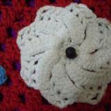 Geanta (gentuta) handmade (facuta de mana, crosetata), captusita matase interior - Geanta handmade