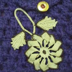 Geanta handmade - Geanta (gentuta) handmade (facuta de mana, crosetata), captusita matase interior