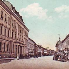 Romania, Sighetul Marmatiei, carte postala circul.1913: Strada Ardealului, animat - Carte Postala Maramures 1904-1918, Circulata, Fotografie, Sighetu Marmatiei