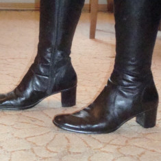 Cizme piele italienesti magazin LEONARDO - Cizme dama, Marime: 41, Culoare: Negru