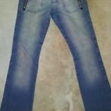 Blugi originali de la Spoon Jeans, bumbac, ca noi, marimea S (3 USA) - Blugi dama, Marime: S, Culoare: Albastru, Drepti, Lungi, Normal