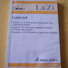 CODUL CIVIL - Carte Drept civil