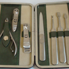 Trusa manichiura 9 piese de CALITATE SUPERIOARA, truse manichiura, pedichiura