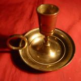 Sfesnic de mana, bronz, h= 7, 5 cm, d.baza =8, 6 cm