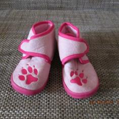 Pantofi fete interior marimea 24 - Pantofi copii, Culoare: Roz, Roz