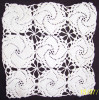 Tesatura/textila - Mileu / dantela crosetate manual din bumbac alb, model specific ramanesc, Ardeal-Alba, 1950, stare IMPECABILA