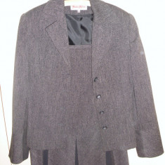 COSTUM MODA ALISS - Costum dama, Marime: 42, Culoare: Negru, Costum cu fusta