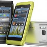 Telefon mobil Nokia N8, Gri, Orange - Vand Nokia N8 Dark Grey codat orange cu factura si garantie. Pachet full.