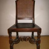 Mobilier, Scaune - Scaune elegante din lemn masiv si plasa