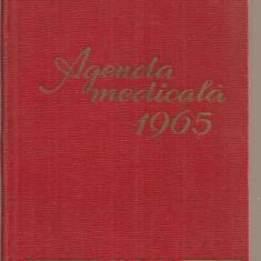 (C3757) AGENDA MEDICALA 1965, EDITURA MEDICALA, 1965,