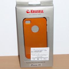 Vand / schimb Husa pt Apple iPhone 4 / 4S Krusell : Color Cover Metallic Orange - Husa Telefon