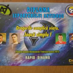 Rapid - Dinamo. Diploma: finala Cupei Romaniei 2012