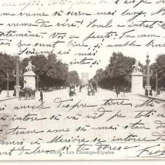 CPI (B2482) FRANTA, PARIS. LES CHAMPS-ELYSEES, CIRCULATA 16.OCT. 1906, STAMPILE, Europa, Printata