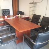5x Scaun birou din piele neagra MOBEXPERT