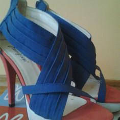 Sandale - Sandale dama, Marime: 39, Culoare: Albastru, Albastru
