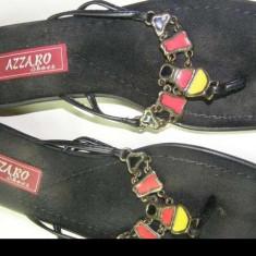 Sandale dama, Marime: 37, Multicolor - Sandale de vara tip papuc made in Greece Azzaro Shoes ca noi