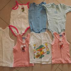 Lot, set 7 produse, maieuri si body-uri pt copii, 1-2 ani, 86-92 cm, COMANDA MIN