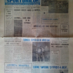 Gazeta Sporturilor, marti 26 noiembrie 1991 - aricol rugby - Ziar