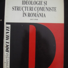 Istorie - IDEOLOGIE SI STRUCTURI COMUNISTE IN ROMANIA 1917-1918