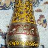 Metal/Fonta - Vaza metal, foarte frumos decorata, cupru