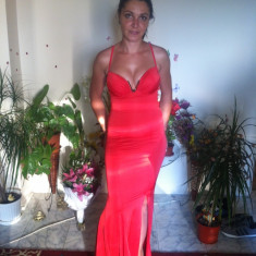 Rochie de seara Bianca Dragusanu Stare impecabila, Maxi, Cu bretele