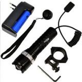 Lanterna pentru arma, cu acumulator, Bailong CU ZOOM ,PUTERE 100W
