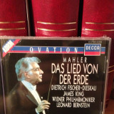 MAHLER - DAS LIED VON.. with LEONARD BERNSTEIN(1989/DECCA REC/UK) cd nou/sigilat