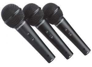 Set 3 microfoane cu fir Behringer XM1800S foto