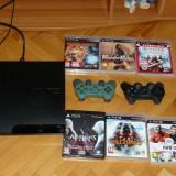 Vand PS3 160 GB Nemodat +2 Controlere+6 Jocuri originale - PlayStation 3 Sony